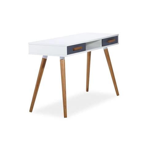bureau scandinave occasion bureau milan style scandinave en mdf blanc et bois