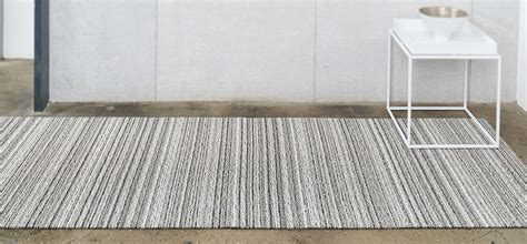 chilewich shag floor mat in stripe the century house wi