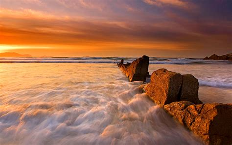 Stunning Beach Sunrise 28967 1920x1200 Px Hdwallsourcecom