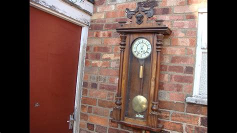 Antique Old Vintage Vienna Movement For Wall Clock With