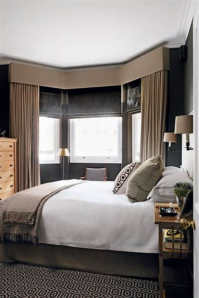 Bay Window Bedroom Windows Curtains Curtain Treatments