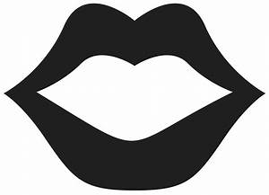 Lips Clipart Png Black And White - ClipartXtras