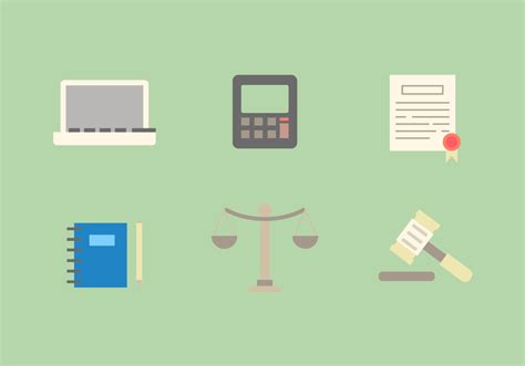 law office vector icons    vector art