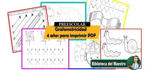 Grafomotricidad 4 Años Para Imprimir Pdf  Biblioteca Del