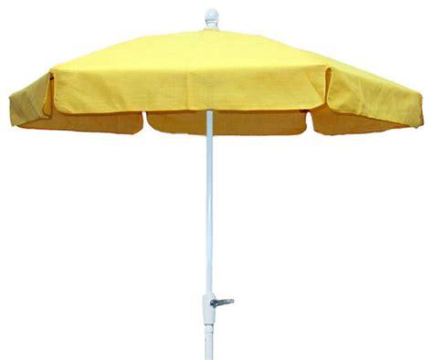 fiberbuilt hexagonal foot garden umbrella yellow tilt