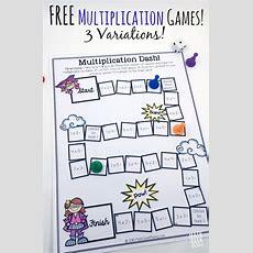 Easy, Low Prep Printable Multiplication Games! {free}  Math Geek Mama Blog Multiplication