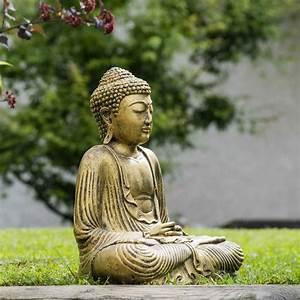 Statue Bouddha Interieur : eclairage mur en pierre interieur 17 wanda collection jardin statue pierre et fibre statue ~ Teatrodelosmanantiales.com Idées de Décoration