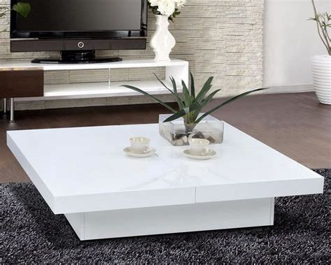 White Living Room Table Ls by Glossy White Modern Storage Coffee Table Live