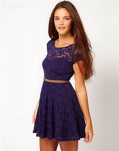 River Island River Island Lace Skater Dress with Cap ...