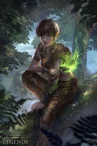 Elf Wood Elder Scrolls Legends Bosmer Skyrim