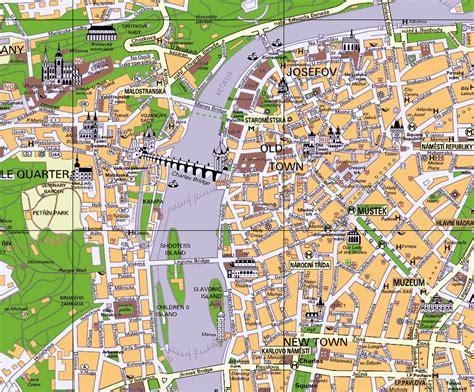 images  places pictures  info prague map english