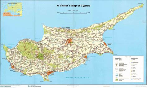 cyprus map detailed map  cyprus town maps
