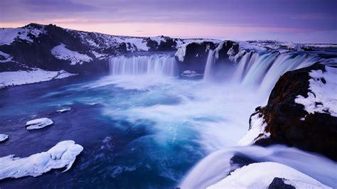 godafoss waterfall iceland   wallpapers hd