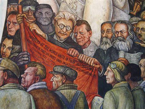 diego rivera rockefeller mural detail of diego rivera mural trotsky karl marx
