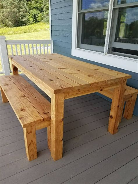 kitchen picnic table plans outdoor cedar picnic table set in 2019 build it picnic