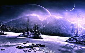 Scenery Winter Planet Mountains Snow Nature Fantasy mood ...