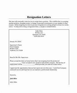 Formal Resignation Letter Example Free 5 Standard Resignation Letter Templates In Pdf Ms Word