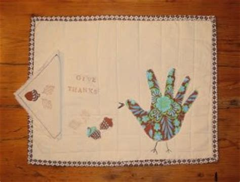 handprint turkey applique quilted placemats favequiltscom