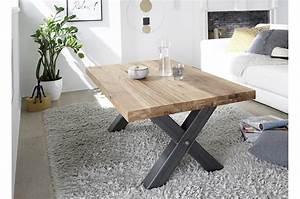 Table Basse Bois : table basse bois massif style industriel cbc meubles ~ Teatrodelosmanantiales.com Idées de Décoration