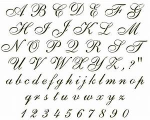 cursive font sample handwritten samples pinterest With cursive letters and numbers