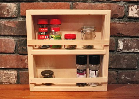 Pine Spice Rack by Wooden Spice Racks Small Spice Rack Jamaica Cottage Shop