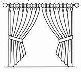 Curtain Curtains Sketch Template Close Hand Pole Drawn Coloring Pages Arrangements Forms Common Open sketch template