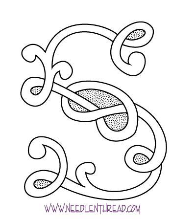 monogram  hand embroidery celtic  needlenthreadcom