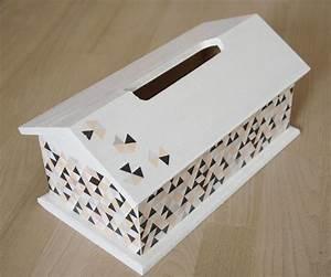 Boite Mouchoir Bois : boite mouchoirs en bois en forme maison scandinave accessoires de maison par planete b ~ Teatrodelosmanantiales.com Idées de Décoration