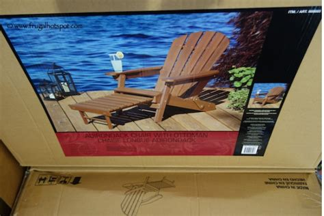costco deal folding adirondack chair with ottoman 99 99