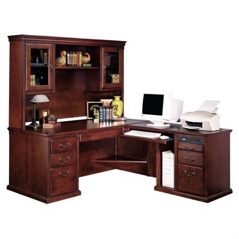 L Shaped Desks With Hutch by Kathy Ireland Home By Martin Huntington Club Rhf L Shaped