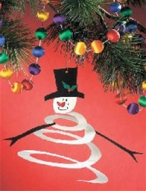 spiral snowman ornament family crafts