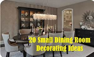 20 Small Dining Room Decorating Ideas - YouTube