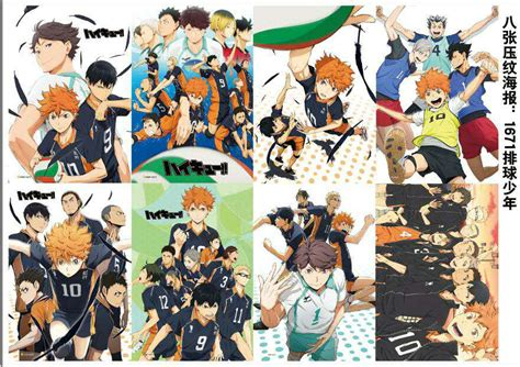 pcslot anime haikyuu embossing poster video games