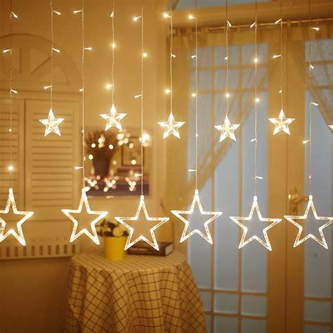 led star curtain string light rowe lighting