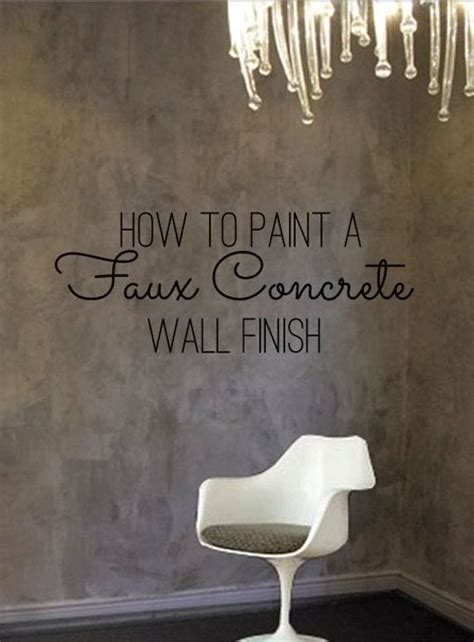 paint  faux concrete wall finish color therapy