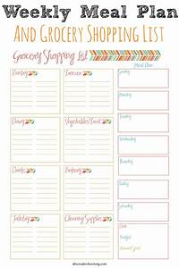 weekly meal planner and grocery shopping list abc With monthly meal planner template with grocery list