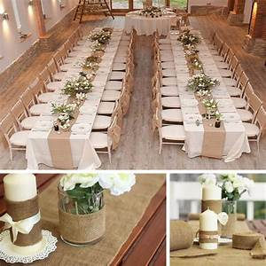 10m33cm vintage hessian jute burlap roll for wedding With wedding decorations table runners