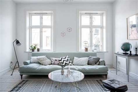 Light Filled Contemporary Living Rooms by Ten Ideas Of Blue Sofa For Trend Stylish Living Room