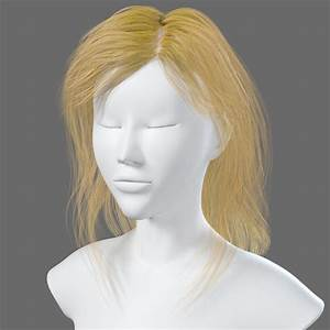 3d Model Of Hairstyle Woman
