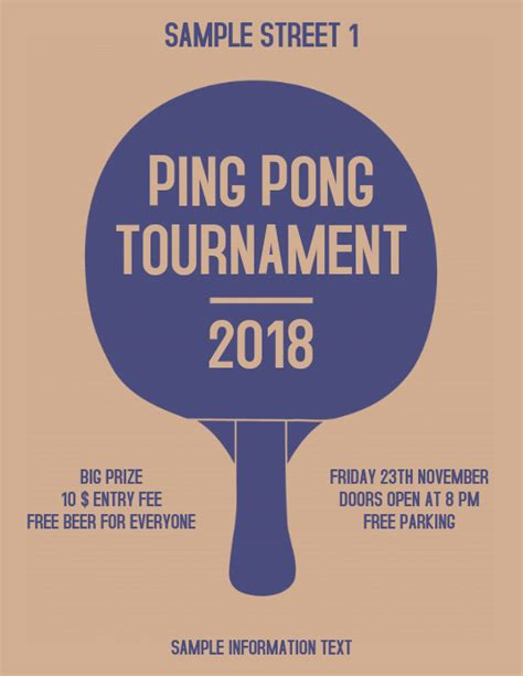 ping pong tournament flyer template postermywall