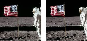 Moon Landing Flag Blowing - Pics about space