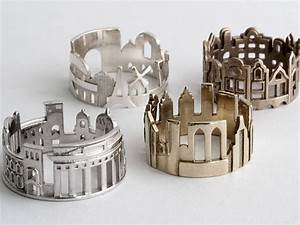 Cityscape rings feature architectural highlights of iconic for Sponsor new cityscape jewelry features more iconic city skylines