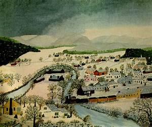 Hoosick Falls, New York, in Winter - Grandma Moses ...