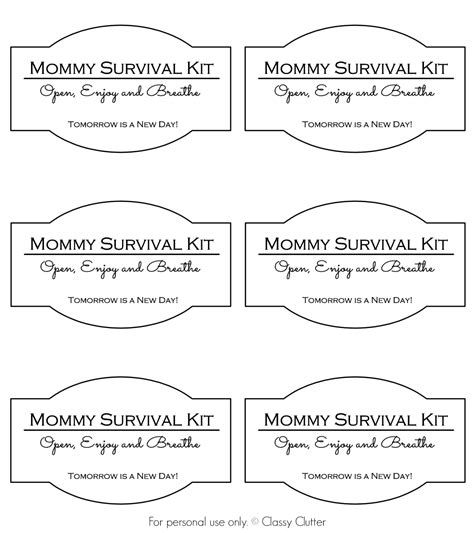 mommy survival kit   jar classy clutter