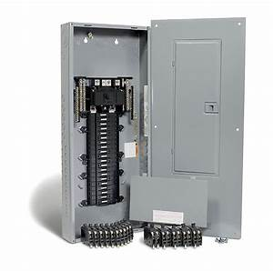 Square D 200 Amp  40 Spaces 80 Circuits Maximum Qwikpak Panel Package With Breakers