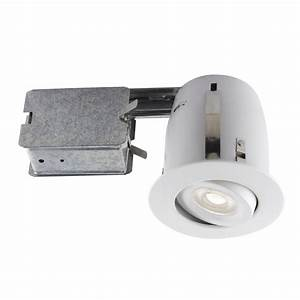 Globe electric in white dimmable recessed lighting kit