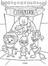 Chicken Little Coloring Theater Friends Pages Print Disney Hellokids sketch template