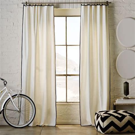 narrow frame curtain white iron west elm