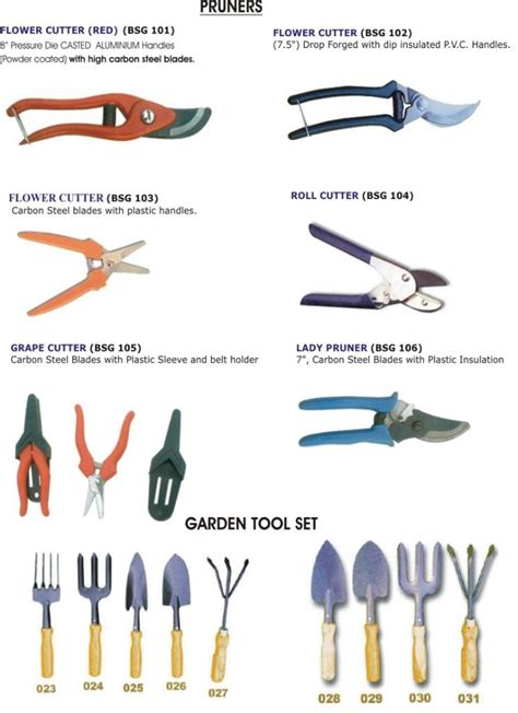 horticultural tools and equipment garden tools product catalog india blue stallion equipments p