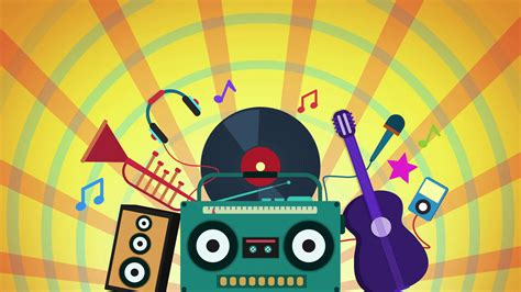 musical instruments animation